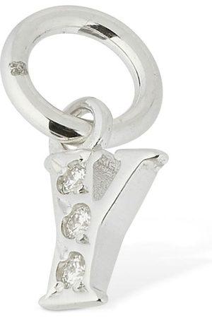 """Dodo 18kt White Gold """"y"""" Charm W/ Diamond"""