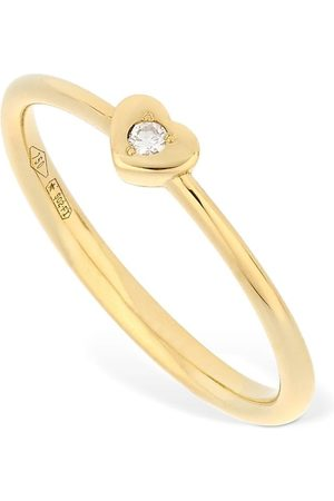 VANZI 18kt Gold & Diamond Heart Ring
