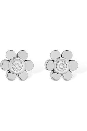 VANZI 18kt Gold & Diamond Flower Earrings