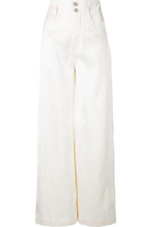 Fleur Du Mal Kvinna Bootcut - Jeans med hög midja