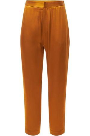 ASCENO The Olbia Bamboo Satin Pants