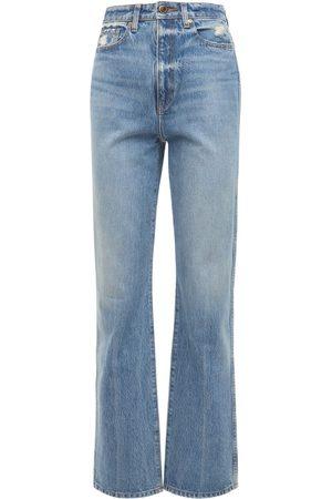 Khaite Danielle High Rise Straight Jeans