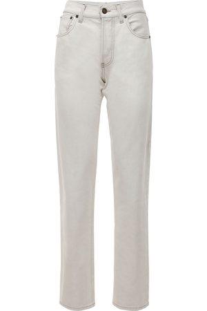 Saint Laurent Cotton Denim Straight Leg Jeans