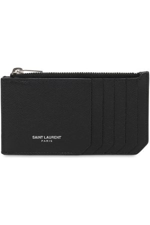 Saint Laurent Man Plånböcker - Leather Zip Card Holder
