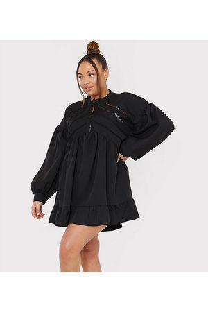 In The Style – x Lorna Luxe – kort smockklänning med volymärm och knäppning