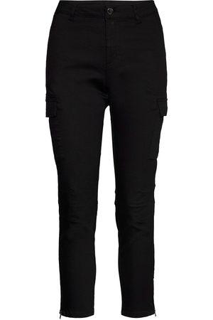 Kaffe Kvinna Dressade byxor - Kamandy Cropped Pants Byxa Med Raka Ben Grön