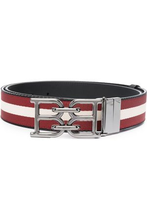 Bally Man Bälten - B-Chain buckled striped belt