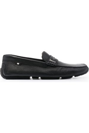 Bally Pavel pebbled penny loafers
