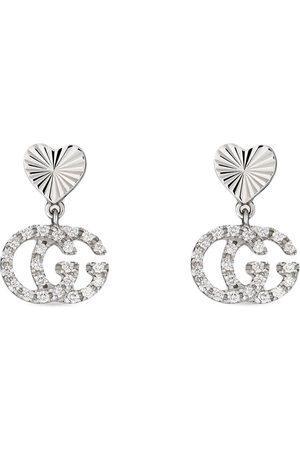 Gucci Diamantörhänge i 18K vitguld med hjärta