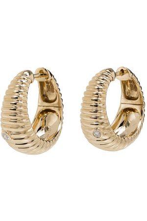 YVONNE LÉON Diamantörhängen i 9K gult guld