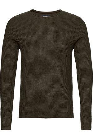Jack & Jones Man Stickade tröjor - Jprblucarlos Knit Crew Neck Noos Stickad Tröja M. Rund Krage Jack & J S