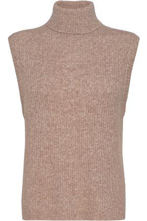 Norr Kvinna Kappor - Elisha Neck Waist Coat Vests Knitted Vests