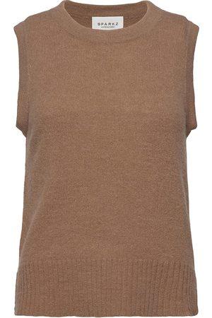 SPARKZ COPENHAGEN Kvinna Västar - Lissie Knitted Vest Vests Knitted Vests Grön
