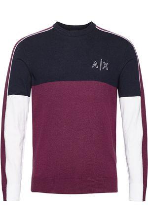 Armani Man Stickade tröjor - Pullover Stickad Tröja M. Rund Krage