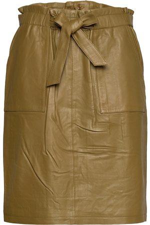 Minus Mirabella Leather Skirt Knälång Kjol