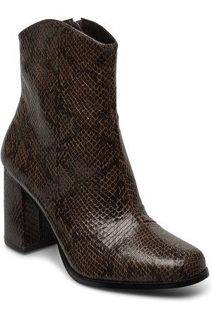 Vero Moda Kvinna Ankelboots - Vmnatti Boot Shoes Boots Ankle Boots Ankle Boots With Heel Brun