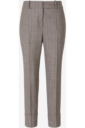 PESERICO SIGN Herringbone Trousers