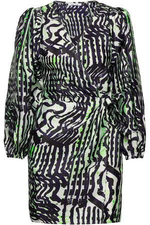 Samsøe Samsøe Kvinna Festklänningar - Magnolia Short Dress Aop 11244 Kort Klänning
