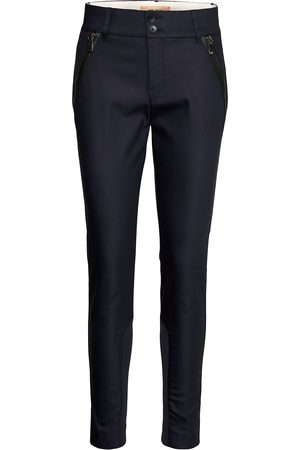 Mos Mosh Milton Night Pant Sustainable Slimfit Byxor Stuprörsbyxor