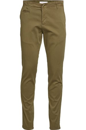 Knowledge Cotton Apparal Man Chinos - Joe Slim Chino Pant - Gots/Vegan Chinos Byxor Brun
