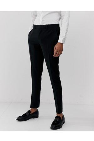 ASOS – Svarta kostymbyxor med supersmal passform
