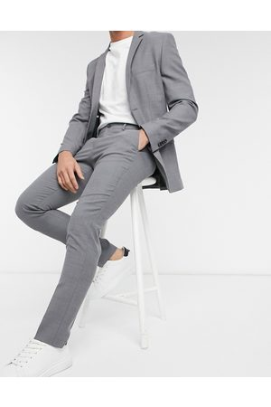 Jack & Jones Premium – Ljusgrå kostymbyxor med smal passform
