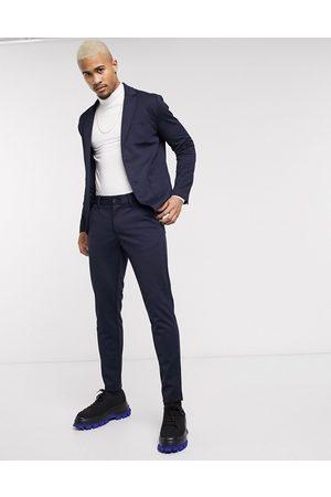 Only & Sons – Marinblå, avsmalnande byxor med smal passform
