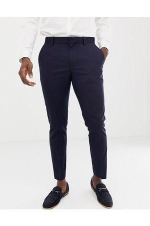Burton – Bröllop – Marinblå kostymbyxor med extra smal passform