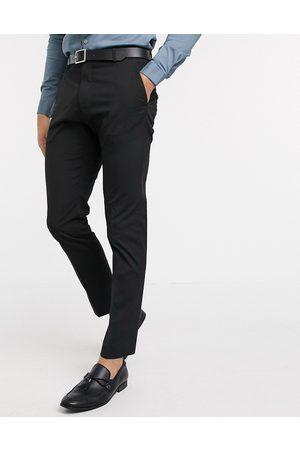 Selected – Svarta kostymbyxor med stretch och smal passform