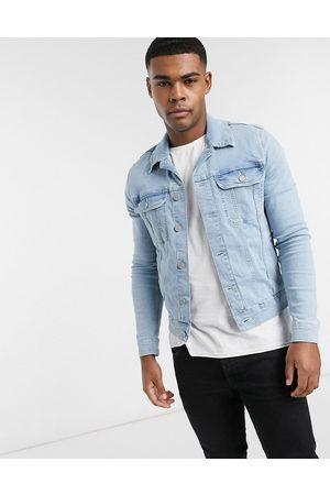 ASOS – Stentvättad jeansjacka i cowboystil med extra smal passform