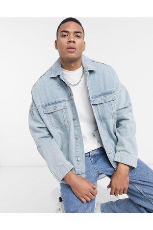 ASOS – Ljusblå jeansjacka i oversize-modell