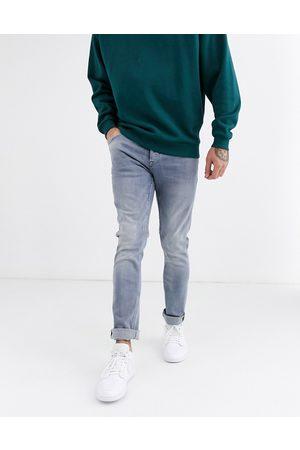 Only & Sons – Blågrå, tvättade slim jeans