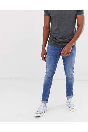 Jack & Jones Intelligence – Glenn – Ljusblå slim jeans med avsmalnande ben