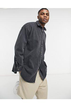 ASOS – jeansskjorta i extrem oversize med kontrastfärgade sömmar