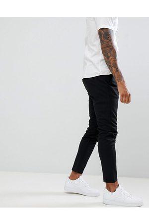 Only & Sons – Svarta, avsmalnande byxor med smal passform