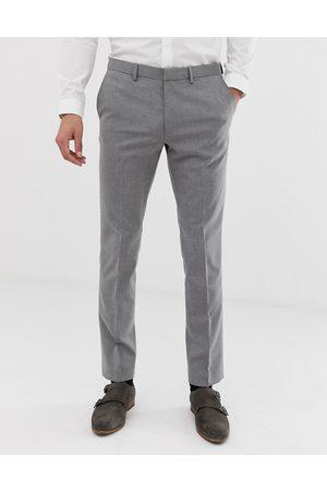 Burton – Ljusgrå kostymbyxor i skinny fit