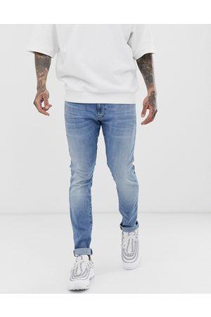 G-Star – Ljusblå skinny jeans i åldrad stil