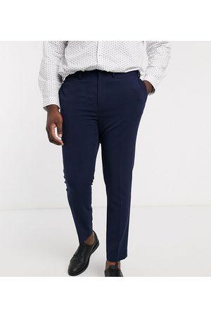 ASOS – Plusstorlek – Marinblå kostymbyxor i superskinny fit med fyrvägsstretch