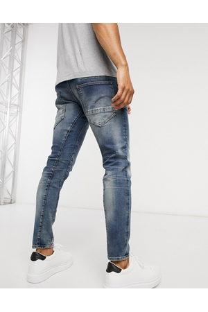 G-Star – D-Staq 3D – Mellanblå jeans i slim fit