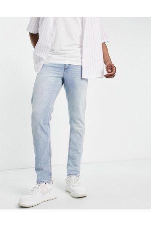 ASOS – Ljusblå slim jeans i retrotvätt med stretch