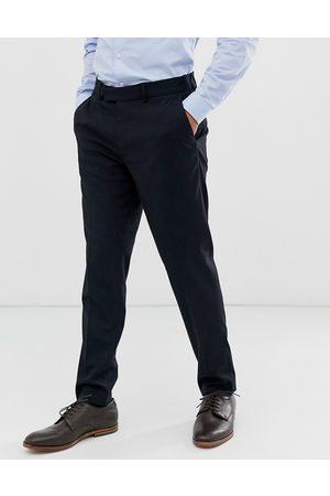 ASOS Marinblå kostymbyxor i skinny fit