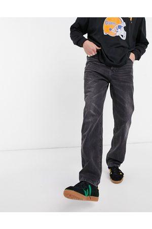 ASOS – Svarta dad jeans i vintagetvätt