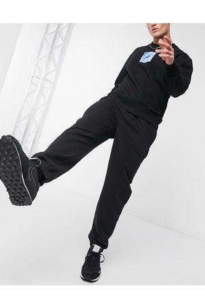Topman – Svarta mjukisbyxor i oversize-modell (del av set)