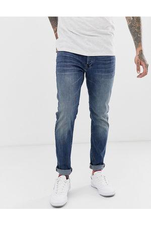 G-Star – 3301 – Mellanblå slim jeans