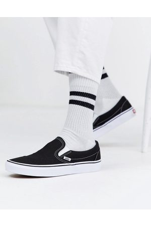 Vans Classic – Svartvita sneakers i loafermodell