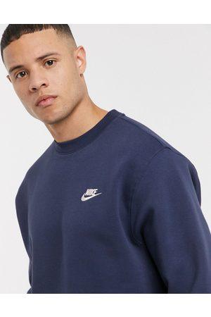 Nike – Club – Marinblå sweatshirt med rund halsringning