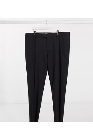 ASOS – Plusstorlek – Svarta kostymbyxor med extra smal passform