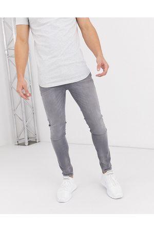 JACK & JONES Intelligence – Liam – Ljusgrå skinny jeans med stretch