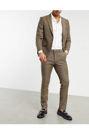 Shelby & Sons – Ljusbruna smala kostymbyxor i twill