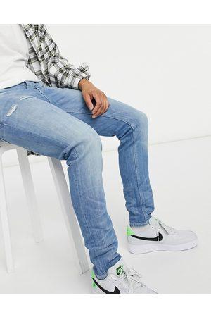 ASOS – Ljusblå skinny jeans i japansk vintagetvätt
